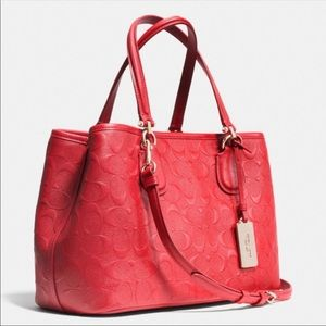 Coach leather red purse Crossbody